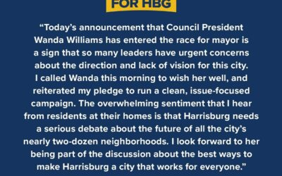 Statement Regarding Council President Wanda Williams Joining Race for Mayor